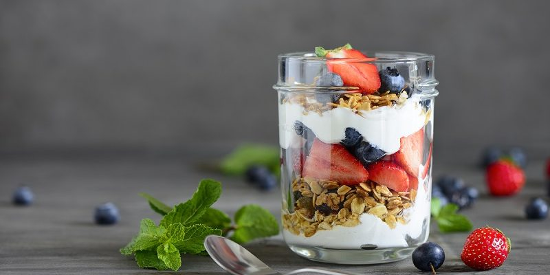 Greek yoghurt is a delicious, healthy, portable snack